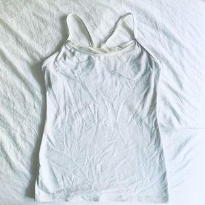 Lululemon White Y Yoga Tank Top 6